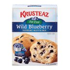 Krusteaz Fat-Free Wild Blueberry Supreme Muffin Mix, 15.8-Ounce Boxes (Pack of 12)