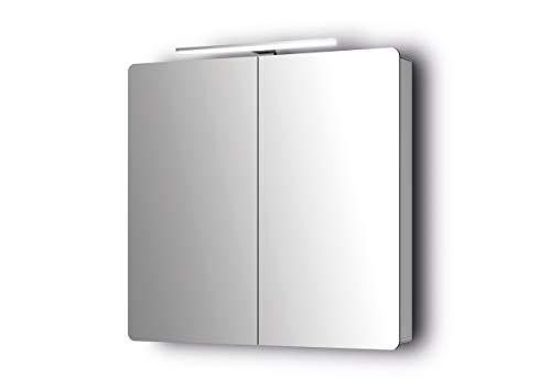 Sieper Espella Comfort 800 aluminium spiegelkast met verlichting 80 cm