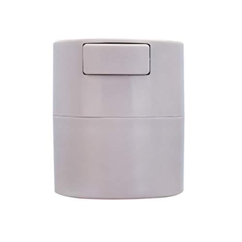 SOLUSTRE Réservoir de Stockage de Colle de Cils Cylindre de Récipient de Pot de Stockage Scellé avec Boucle de Joint pour Greffer Le Maquillage Des Cils (Gris)