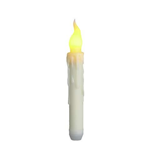 Lixada Led lange elektronische kaarsen creatieve simulatie traanvormige afstandsbediening kaarslicht bruiloft reliëfkaarsen