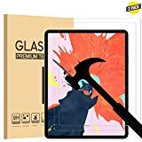 [2 Pack] EpicGadget Screen Protector for New iPad Pro 12.9 (2018 Release), Tempered Glass Screen Protector with Apple Pencil and Face ID Compatible/High Definition/Scratch Resistant/Bubble Free