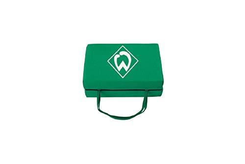 Werder Bremen Hier Sitz ich Sitzkissen (one Size, grün)