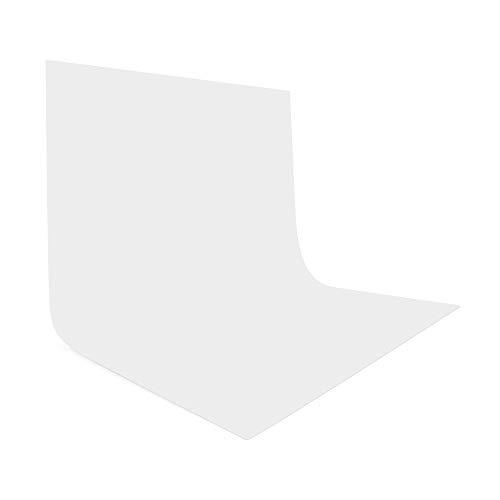 UTEBIT Whitescreen 2,5 x 2,5m/8 x 8ft Fotohintergrund Weiss Photography Background Faltbare Polyester Fotoleinwand Fotostudio Kamera Fotografie Weißer Hintergrund Faltbare für Foto Video Aufnahmen