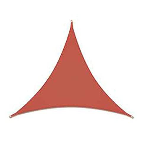HNBMC Sombra de Sol Impermeable Vela UV Bloqueador de sombrilla Patio Pájaro Cuadrado PERGOLA CARPORT TWORN 5F1M5K (Color : RUSTRED, Size : 6X6X6M)