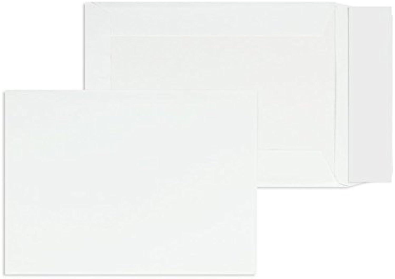 Papprückwandtaschen   Premium   162 x 229 mm (DIN C5) Weiß (125 Stück) mit Abziehstreifen   Briefhüllen, KuGrüns, CouGrüns, Umschläge mit 2 Jahren Zufriedenheitsgarantie B01CGBLRXE      Schön In Der Farbe