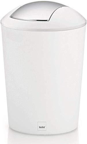 kela 22301 - Cubo de Basura para baño de plástico, 5 l,