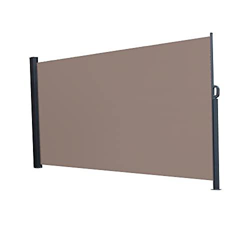 PUEEPDEE 1.8x3m, 1.6 * 3M Mango de Aluminio al Aire Libre Lado Pentagonal Solt-out Shed Office Partition Cafetería Terraza Aislamiento de Parabrisas Cobertizo marrón (Size : 1.8 * 3M)