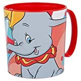 2637; Verre de canne Disney Dumbo; capacité 430 ml; produit en plastique; réutilisable; Pas de BPA
