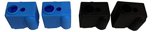 3DPLady | 3D Drucker 4x Volcano Heatblock Silikon Socken (Heizblock Schutz) passend für z.b Artillery Sidewinder/Genius