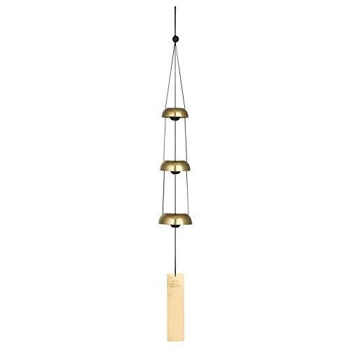 Woodstock Windspiel Temple Bells, Gold, 62,2 cm