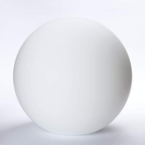 Sfera di vetro con foro in molte misure, paralume in vetro opale bianco opaco, bianco, Ø 250mm