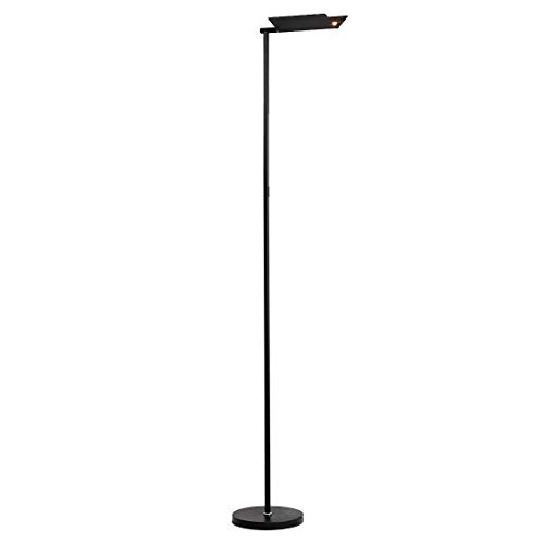 O'Bright Dimmable LED Floor Lamp, 360° Rotatable Head, Full Range Dimming, 3-in-1 Minimalist Stand Lamp/Reading Light/Wall Light, Floor Lamps for Living Room, Bedrooms, Dorm and Office, Black