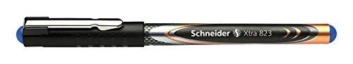 Schneider Schreibgeräte Tintenroller Xtra 823, Konusspitze aus Edelstahl, 0,3, blau, Carbon-Optik