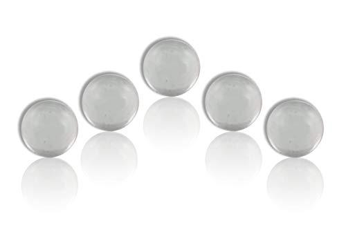 ROFOR Ventilkugeln 5er Beutel | Ø 7.1mm | Glas | Für Shisha Schlauchanschlüsse | Kein Luftziehen | Maximaler Durchzug