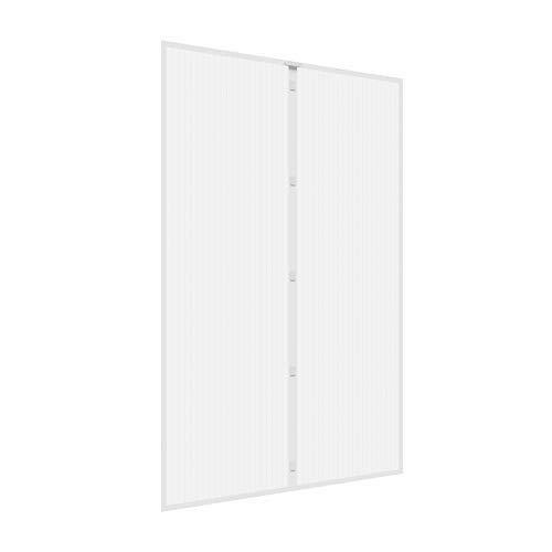 jarolift Insektenschutz Magnetvorhang für Türen Fliegengitter Fliegenschutzvorhang, ohne Bohren, Höhe und Breite kürzbar, 160 x 230 cm (B x H), Weiß