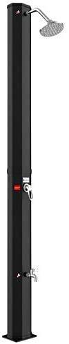well2wellness® Solardusche Gartendusche aus PVC 2-teilig 35 Liter Plus Fußdusche