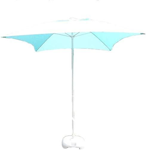 FACAZ Sombrillas para jardín al Aire Libre, 6.56 pies 2 m, sombrilla para Mesa de Patio, sombrilla Cuadrada con Hueso de Fibra de Vidrio de 11 cm, Refugio Solar UV50 + para terraza, Piscina, Playa