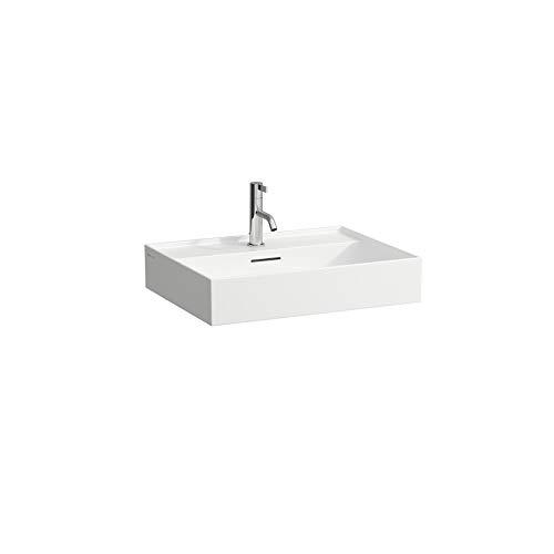 Laufen Kartell Waschtisch unterbaufähig, 1 Hahnloch, mit Überlauf, Wandmontage, 600x460, Farbe: Snow (weiß matt)
