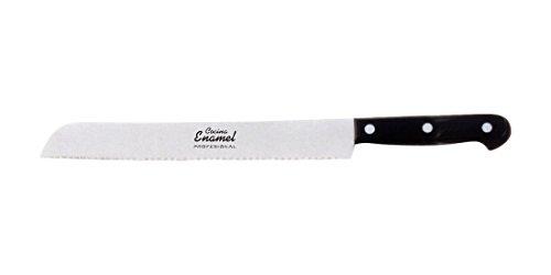 Cocina Enamel Fenol Prof Cuchillo de Panero, Acero Inoxidable, Negro, 20 cm