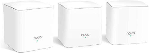 Tenda Nova MW5G Wi-Fi Mesh, AC1200 Dual Band con Copertura Fino a 350 ㎡, 2 Porte Gigabit Ethernet, Controllo Genitori, Controllo Remoto, Rete Ospite, Roaming Wireless, Confezione da 3