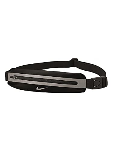 Nike Slim 2, Borsa Unisex Adulto, Black/Black/Silver, One Size