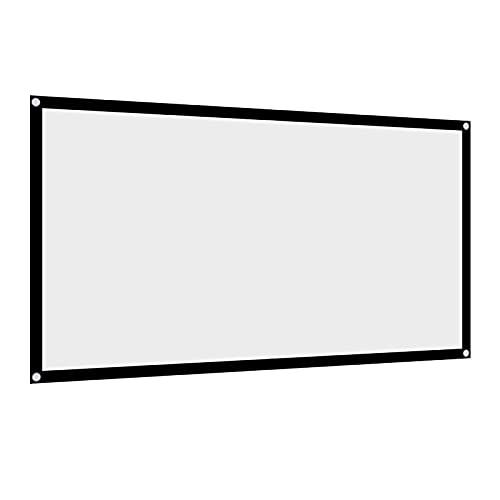 60 '' / 72 '' / 84 '' / 100 '' 120 '' Inch Projektor Leinwand 16: 9 HD 4K Tragbare Faltbare Projektion Leinwand mit Schwarzem Kanten und Hängenden Löchern für Heimkino, Open Air Kino usw.(72 inch)