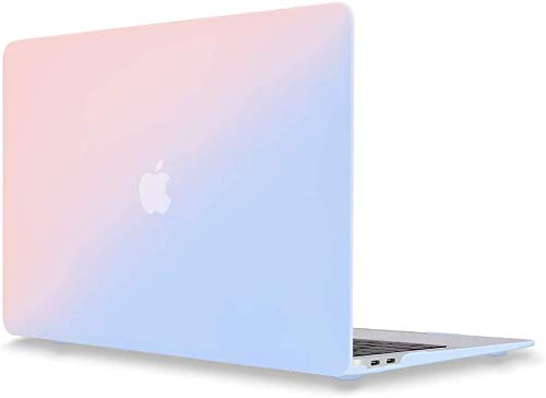 MacBook Pro 13 Inch Case with Retina Display Model A1502 A1425 Relase 2012-2015, ACJYX Smooth Cream Touch Feeling Matt Plastic Hard Shell Case Cover - Blue & Pink