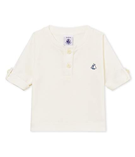 Petit Bateau BRAHAMA T-Shirt, Blanc (Marshmallow 01), 18-24 Mois (Taille Fabricant:18M) Bébé garçon