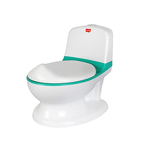 LuvLap Comfy Western Style Real Baby Potty Training Seat with Lid, Potty Pot for babies, Removable Bowl, 1 year & above, Suitable for Boy / Girl (Green) (Baby Product)