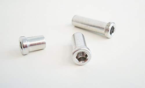 HiTeMP42 Hülsenmutter Aluminium für Rennrad Bremsen 18mm