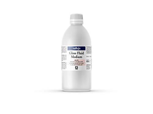 Vallejo : Acrylic Fluid Gloss Medium : 500ml