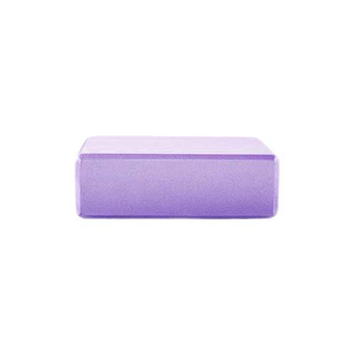 LHY- Yoga ladrillo EVA de Alta Densidad de Protección Ambiental de Fitness for Principiantes Suministros Iyengar Danza Espuma de ladrillo Comodo (Color : Purple)