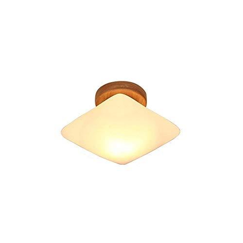 Plafondlamp lampenkap Petrol Thing Creative Modern Balcony koepel eenvoudige LED-licht kroonluchter gemaakt van massief hout