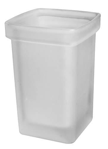 Emco 51500090 loft Ersatzglas für Bürstengarnitur, Kristallglas satiniert, für WC Garnitur 0515 XXX 00