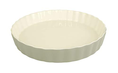 LE REGALO Stoneware Round Baking Dish, 10.5x10.5x1.5, White