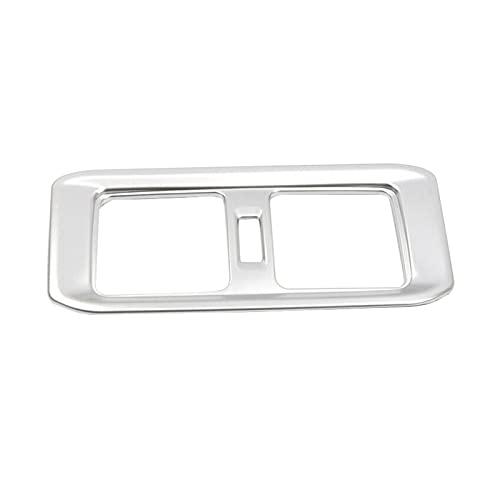 MSRRY Coche trasero de escape de aire marco de salida de aire aire acondicionado aire apto para TOYOTA RAV4 XA50 2019-2020 (Color Name : Silver)