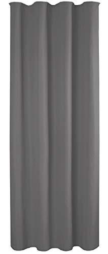 Bestlivings Blickdichte Dunkelgraue Gardine mit Kräuselband in 140x245 cm (BxL), in vielen Größen und Farben