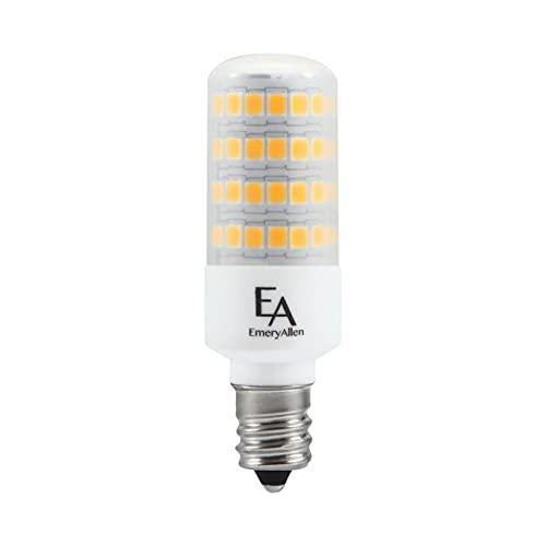 EmeryAllen EA-E12-5.0W-001-309F-D Dimmable Candelabra Base JA8 Compliant LED Light Bulb, 120V-5Watt (50W Equivalent) 550 Lumens, 3000K, 1 Pcs