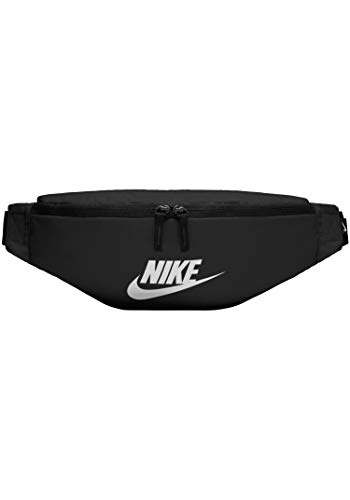 Nike Heritage Hip Bag Gürteltasche (Black/White, one Size)