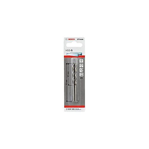 Bosch Professional Metallbohrer HSS-G geschliffen (2 Stück, Ø 4 mm)
