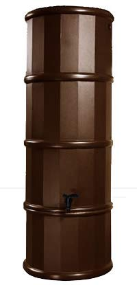 Polytank Brown Space Saving 110L Litres SLIMLINE WATER BUTT KIT with Stand, Diverter & Tap