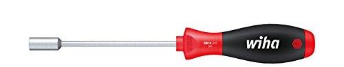 Wiha Schraubendreher SoftFinish® Sechskant-Steckschlüssel mit Rundklinge (01029) 13 mm x 125 mm ergonomischer Griff für kraftvolles Drehen, Allrounder für Industrie und Handwerk