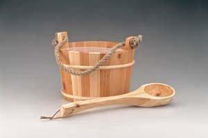 Saunakübel mit Holzkelle