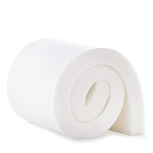 """Linenspa High DensityCushionCraft Foam-Perfect for Chairs, Sofas,Headboards, and DIY Projects, 3"""" x 24"""" x 72"""", White"""