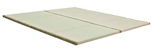 "MustMat Tatami Mat Japanese Futon Mattress Traditional Japanese Tatami Bed Rush Grass Folds Easily 35.4""x78.7""x1.2"" (2 Piece Set)"