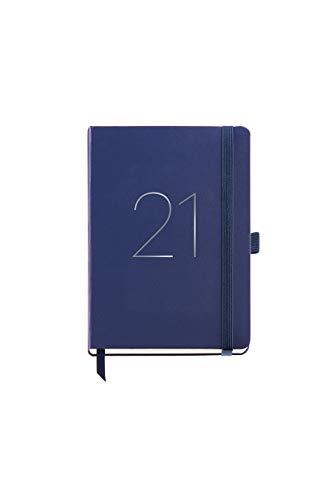 MIQUELRIUS - Agenda 2021 Chester - Español, Semana Vista, Tamaño 155 x 213 mm, Papel 70g, Cubierta Símil Piel, Color Azul