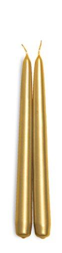 Decorline-Punta Candele Metallic Oro 24 cm - 8 Pezzi