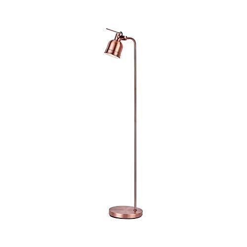 DyAn Diseñado Industrial de Lectura de Cobre Antiguo de pie Lámpara de pie Ajustable con la Cabeza del Bulbo 60watt máximo