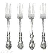 Oneida Michelangelo Fine Flatware Set, 18/10 Stainless, Set of 4 Dinner Forks