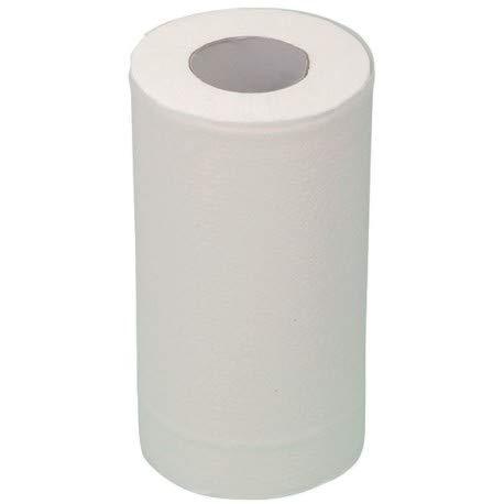 Essuie main – Dispensador de limpieza de mano – Recarga de papel dispensador – Toalla de cocina compacta 200 formatos – 2 pliegues gofrado pegado – Paquete de 12 bobinas